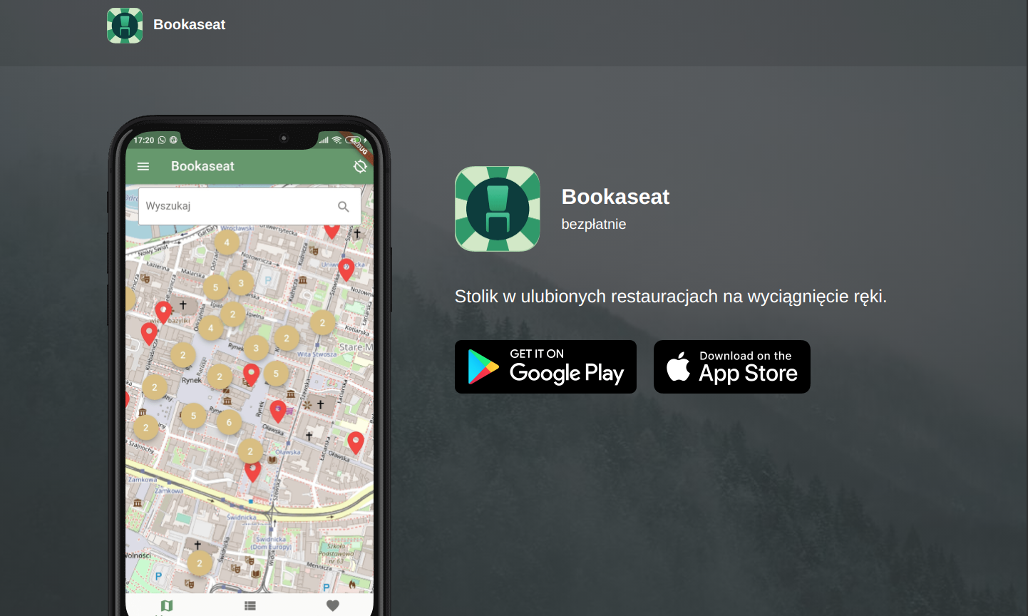 Screenshot of Bookaseat