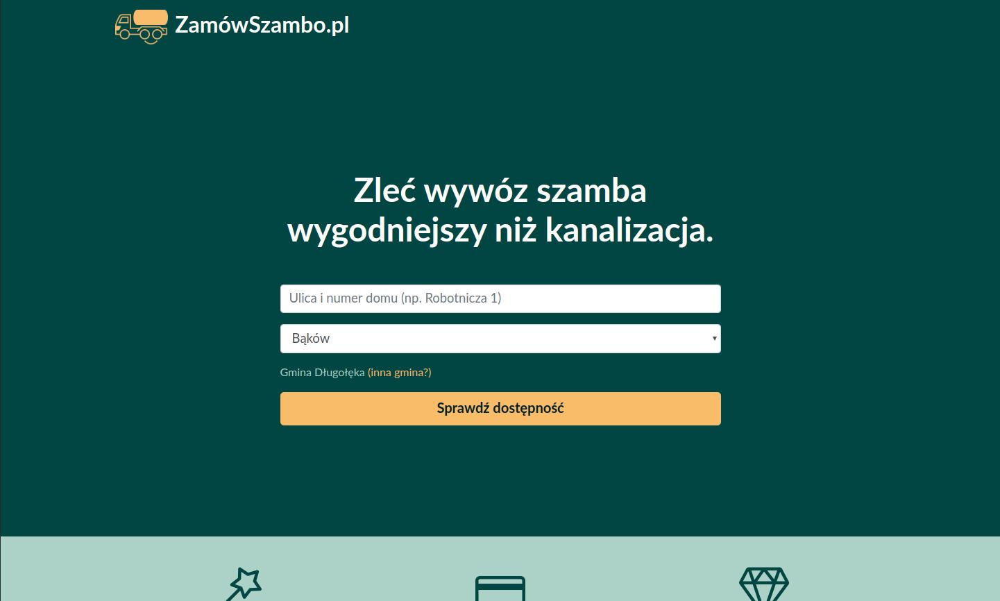 Screenshot of ZamówSzambo.pl